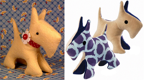 Scotty Dog Felt Pattern http://allsorts.typepad.com/allsorts/2010/05/scotties-usually-make-me-happy.html