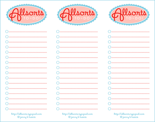 picture about Cute Printable to Do List identify Obtain an Allsorts printable toward do record - allsorts