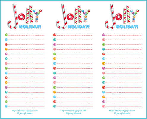 photograph regarding Printable Christmas List identify Freebie Friday a printable record for your Jolly Holiday vacation