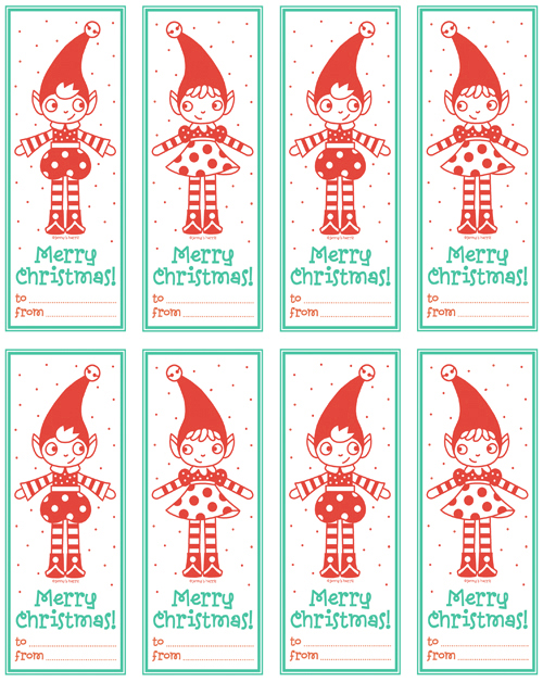 picture relating to Christmas Tags Printable identify Freebie period ~ printable Elfie reward tags! - allsorts