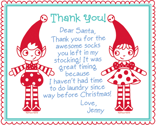 picture about Christmas Thank You Notes Printable identified as Thank yourself extremely a great deal! (playing cards) - allsorts