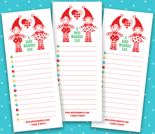 Christmas Lists.A New Printable Jolly Holiday List Now With More Elf