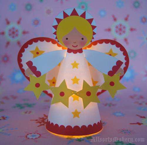 Christmas Crafts Paper Angels : Commona my house starry christmas angel craft