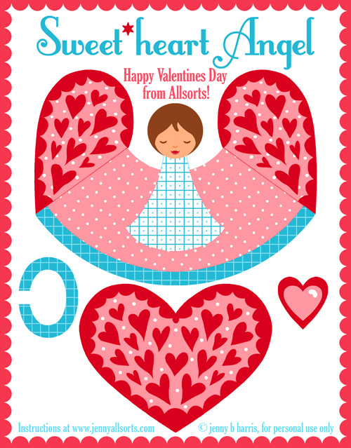 A Printable Valentines Day Angel   Allsorts