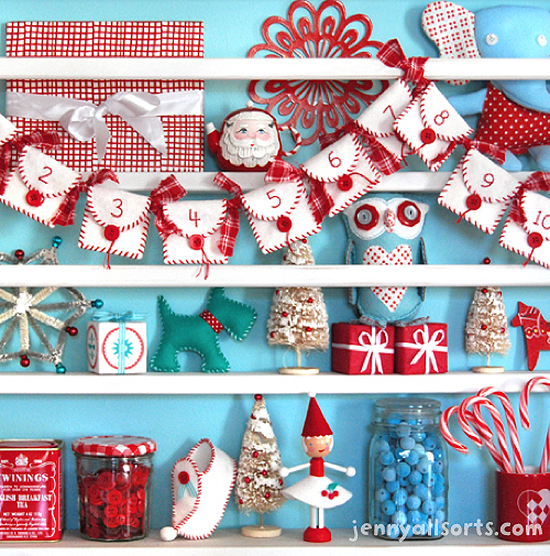 Christmas-shelf