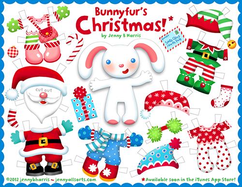 Printable Christmas paper doll  allsorts