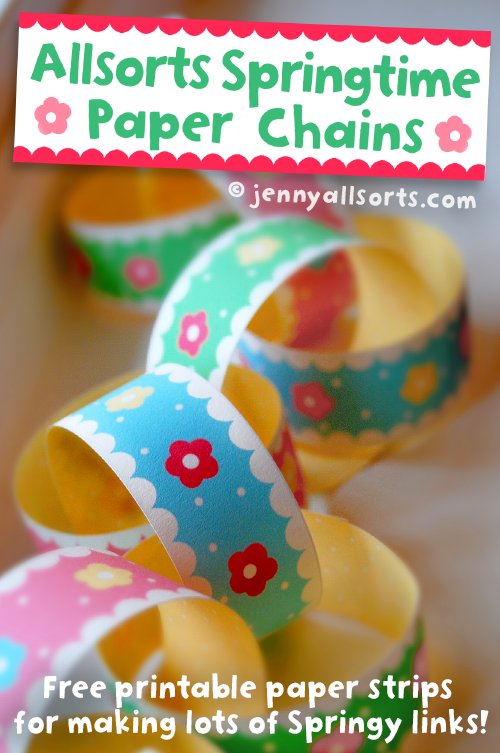 Allsorts spring paper chain