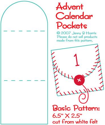 Imagen de los patrones y el paso a paso del primer calendario de Adviento de esta entrada