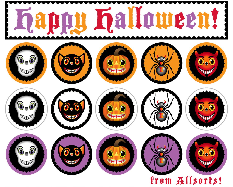 photograph relating to Printable Freebie named Halloween freebie period ~ printable spherical spooky variables
